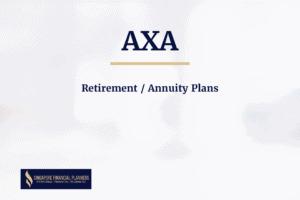 AXA Retirement annuity plans