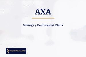 axa savings endowment plans